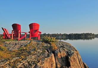 Red Chairs on Bear Lake