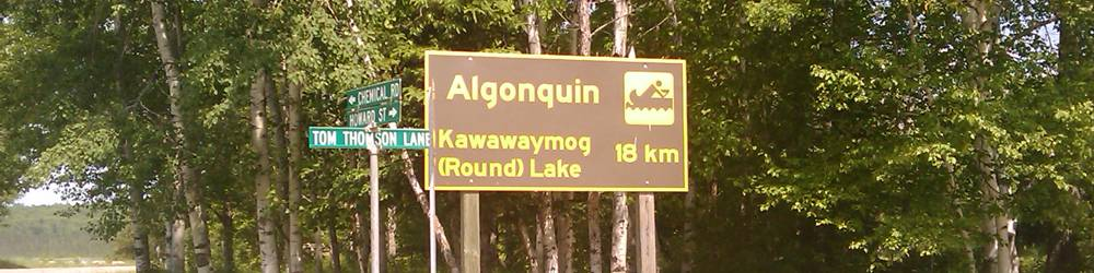 Algonquin sign in South River